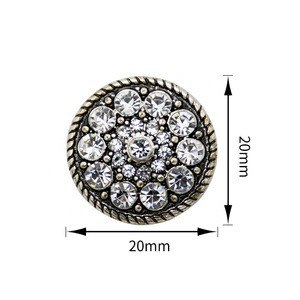 Washable Crystal 20mm Button Crystal Rivet For Clothing Round Diamond Alloy Rhinestone Button