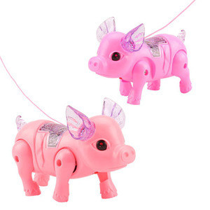 WoYing Electric leash  glowing music leads pigs Sing the pig Fun toys for children