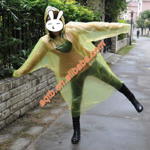 yellow disposable plastic adult raincoat