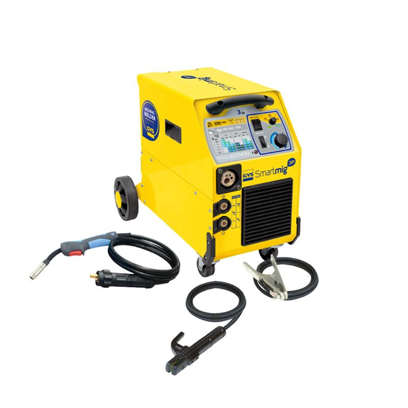 GYS-SMARTMIG 3P Single-phase welding machine MIG/MAG NO GAS and MMA three in one Convenient for personal and professional use