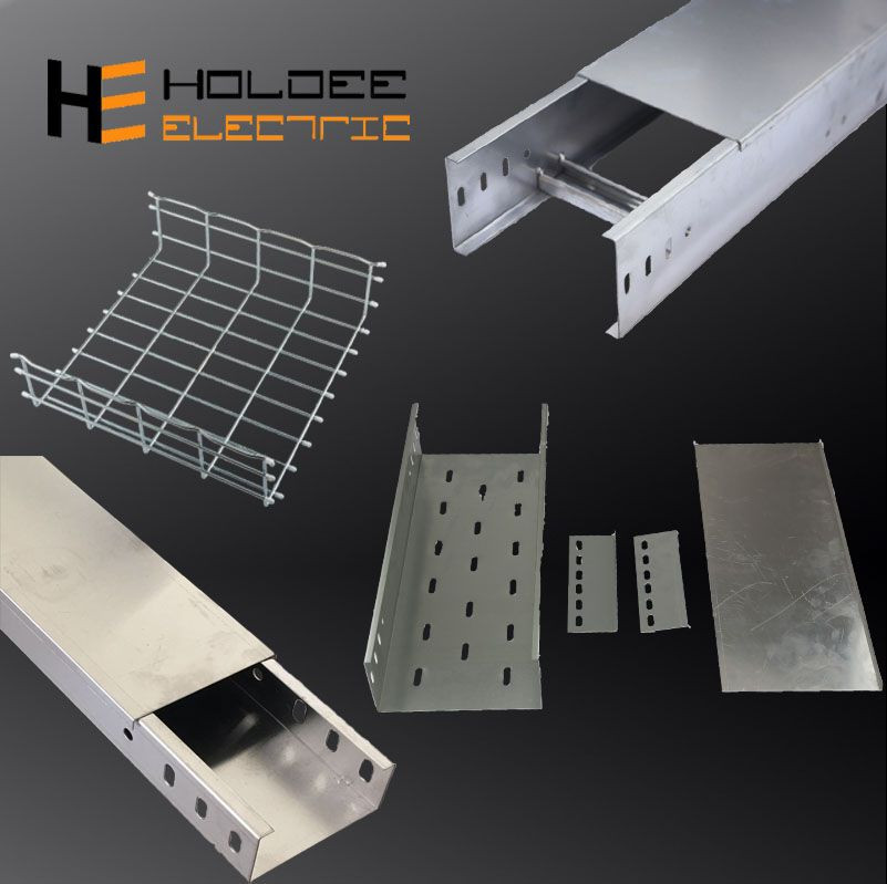 Aluminium Alloy 6063T5 Ventilated Or Perforated Trough Cable Trays Ladder Type With Accessories China Manufacturer
