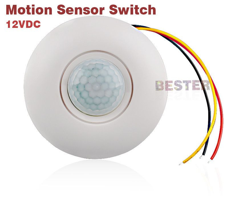 12v ceiling mounting human body motion sensor LED Light control auto switch BS019B