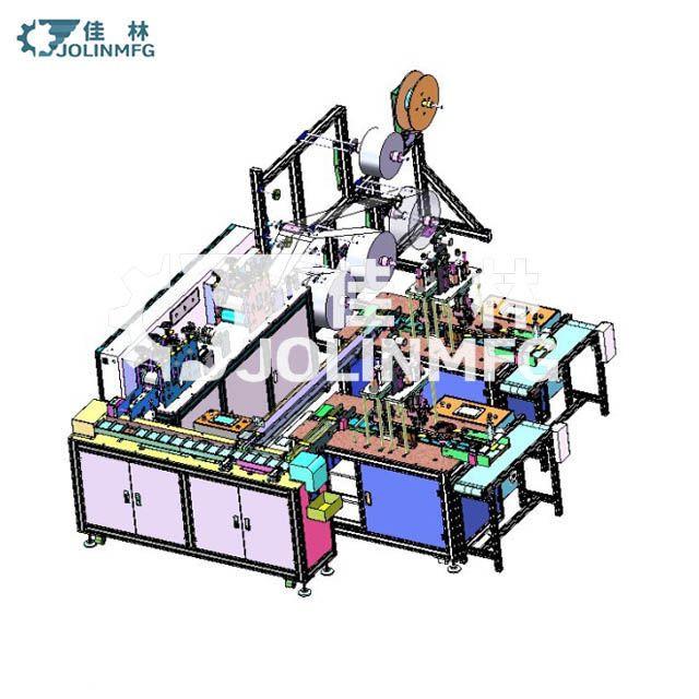 Automatic 3 ply mask making machine