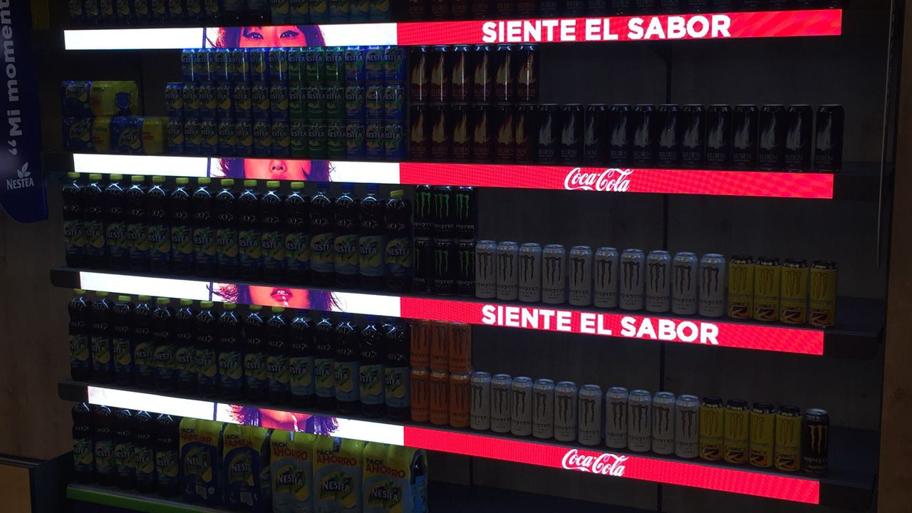 p1.875 Smart Shelf Display For Supermarket and Retail Stores