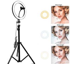 18 inch dimmable full color temperature LED photography ring light selfie stick ring fill light LED Ring Light for phone video