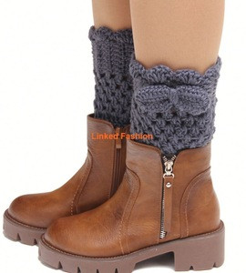 2015 New Womens Green Wool Knee Thigh High Knit Boot Socks Lot Leg Warmers