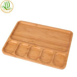 6 Parts Sushi Bamboo Plates Bamboo Serving Plate Kitchenware