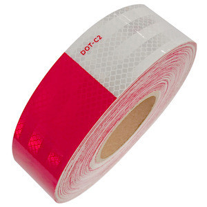 7 Years PC Material DOT-C2 Micro Prism RetroTruck Reflective  Sticker Tape