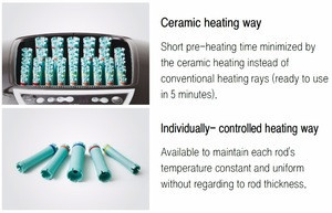AOMI O.S ceramic rod heating - direct heat perm treatment machine