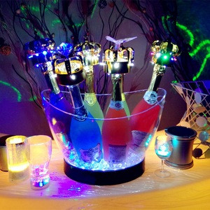 Bar illuminated LED Ice bucket drink cooler container