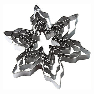 Christmas Snowflake Candy Food Molds 5PCS mold Shaped Cookie Cutter Set