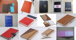 Custom leather cover Spiral Notebook with CD case