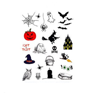 Customized Design fashionable temporary waterproof halloween  body Tattoo sticker