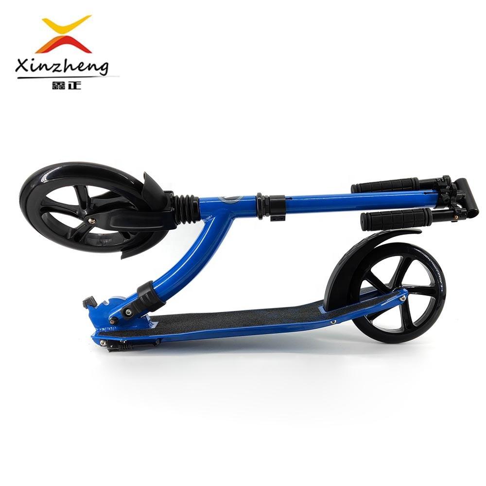 En14619 Approved Foldable 2 Big Pu Wheels Kick Ski Scooter Adult Foot Pedal Kick Scooter