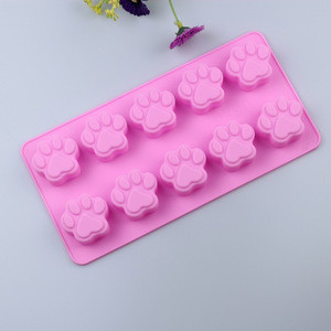 Factory direct French dessert tool dog claw silicone pudding mold chocolate mold ice mold
