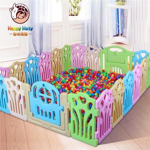 Factory price EN71 indoor plastic portable baby playpen with door play fence for children