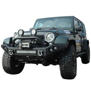 Full Width  LED lights Wrangler JK Front Bumper for Wrangler JK Car Bumper