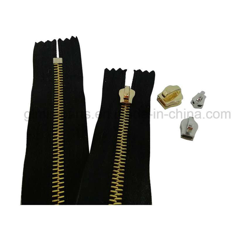Garment Metal Accessories Polished Stailess Steel Zipper for Clothes Coats Trousers Dress Fashion Metal Parts