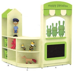 Kids high quality and popular rounded corner storage cabinet