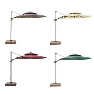 Patio Rome Umbrella Parasol Outdoor Umbrella Parasol with Light Stand 3x3m Parasol_Umbrella