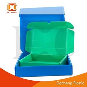 Plastic corrugated printing folding crate