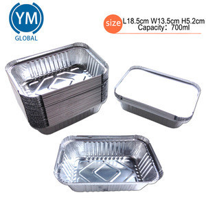 Pollution-free Aluminum Foil Container Use For Household Use And Restaurant 700ml