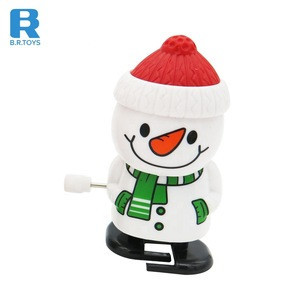 Promotional new style plastic christmas walking santa claus custom wind up toy for wholesale
