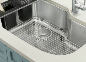 Stainless Steel Sink Bottom Grids for Kitchen Sinks with Center Hole