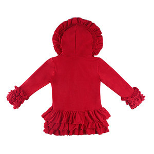 The Latest Children's Coat Style for  Baby Girl Wholesale Coat Solid Red Color Button