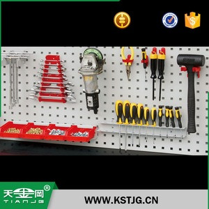 TJG fashion display ring hooks are used in conjunction with perforated plates and frame sets.