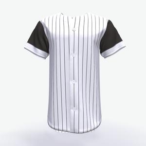 White Striped Softball Jersey/Blank Baseball Jerseys Wholesale