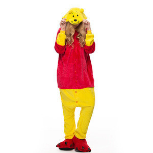 Wholesale price winter Adult women Flannel animal kigurumi onesie pajamas