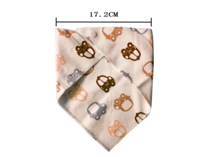 Wholesale Water Absorption Multifunctional Pure Cotton Lovely Baby Bibs Bandana