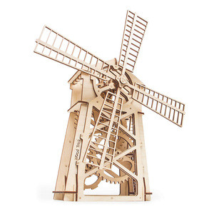 Wood Trick Mill 3d wooden puzzle - mechanical constructor, wooden jigsaw puzzle for teens and adults