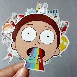 YOMORES 35Pcs American Drama Rick Morty Funny Sticker Decal For Car Laptop Bicycle Motorcycle Notebook Waterproof Stickers