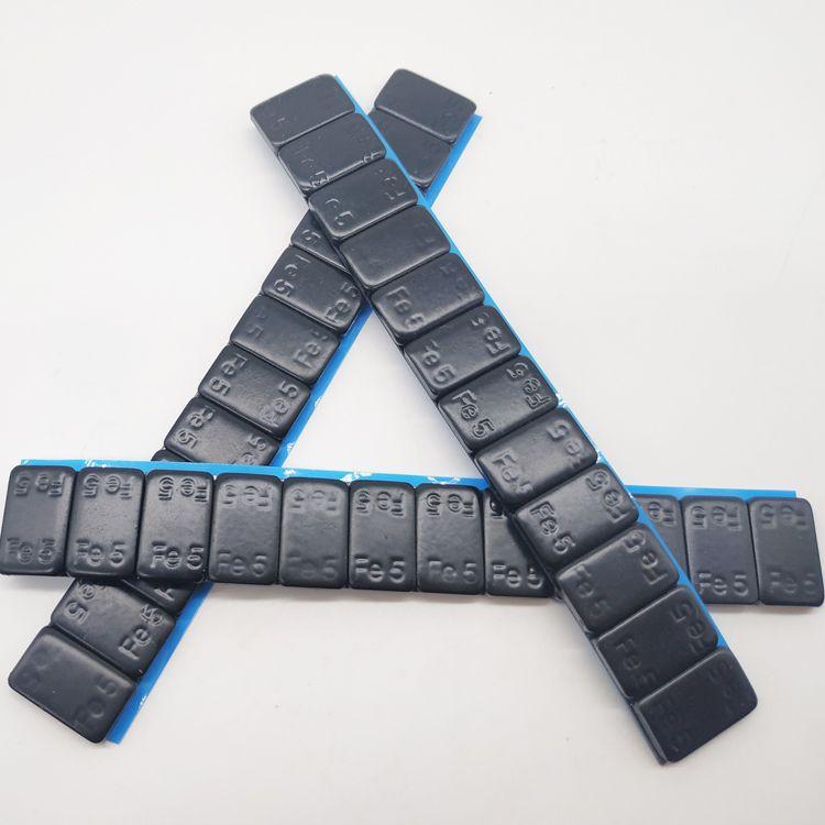 Self adhesive black coated  5x12pcs wheel weights