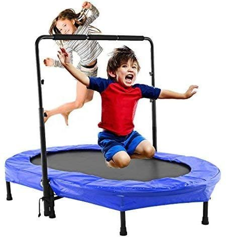 Oval Trampoline With Handel Bar