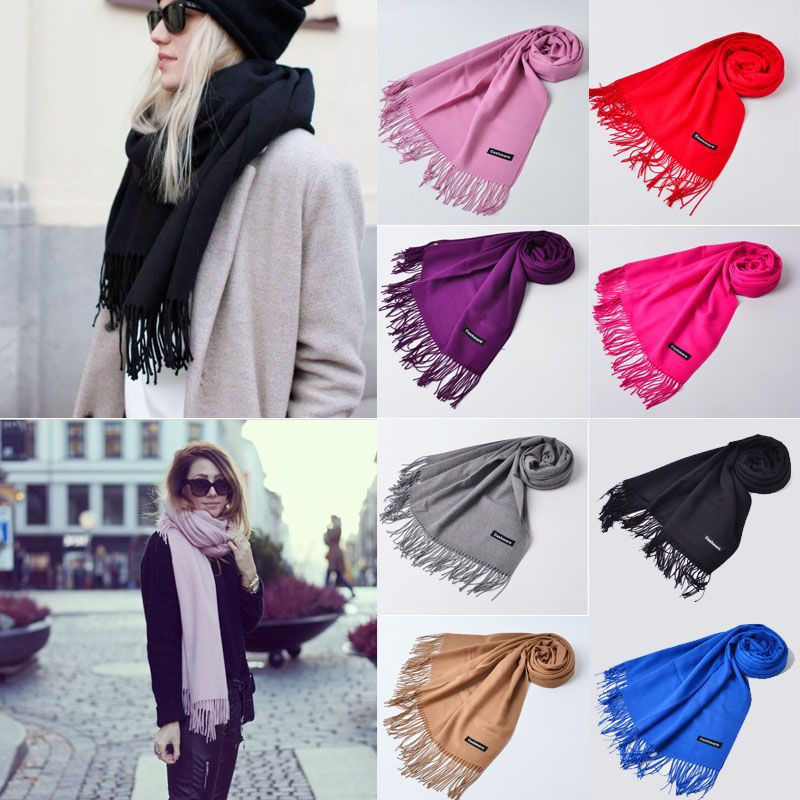 NEW Couple Scraf Winter Scarf Cashmere Women Long Scarf Wrap Shawl Solid Knit Warm Scarves Pashmina