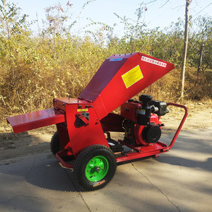 13hp big hopper wood chipper shredder diesel engine power /waste wood chipper /garden chipper for sale