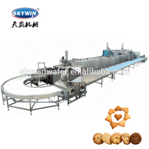 15% Discount Automatic Snacks Small Butter Cookies Making Machine Cookie Production Line Cookie Cutting or Dropping Machines