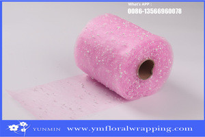 15cm snow mesh for flower wrapping mesh roll and snow organza mesh for soap rose flower packing materials