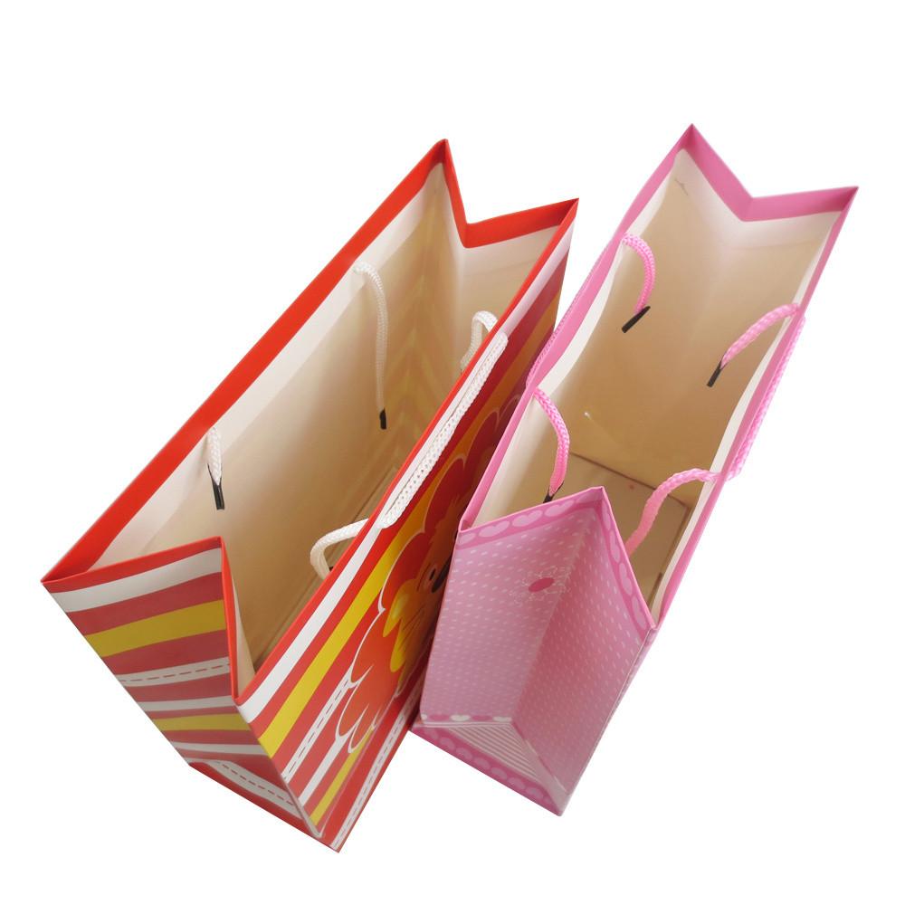 2019 BSCI Audit Lovely 3D Finishing Kids′ Gift Packing Shopping Paper Bag