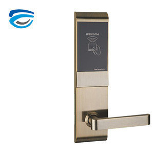 Archie Design Entrance Door Handle Lock with Card and Key for Hotels