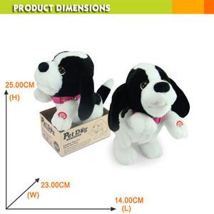 ASTM kids plush toy electronic pet dancing dog