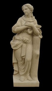Chinese hot sale beige marble statues for sale
