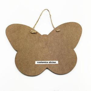 Custom Hanging Wooden MDF Kids Butterfly Shape Blackboard