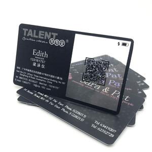 Custom Printer Printing Clear Plastic PVC Black Business VIP Card With Barcode