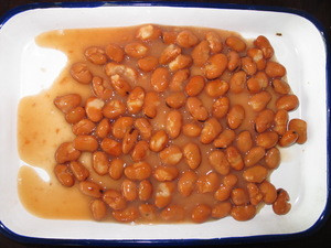 Delicious canned broad beans, canned food