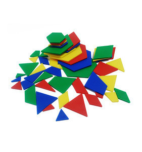 Educational blocks Geometry Aids multi-lateral Fraction shapes Teaching mathematics plastic math tiles