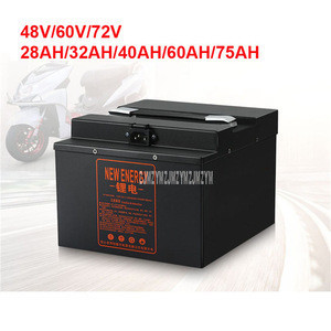 Electric Bike Lithium Battery For Less Than 2000W Motor Ebike Electric Bicycle Battery 28AH/32AH/40AH/60AH/75AH 220V (NO:E822)